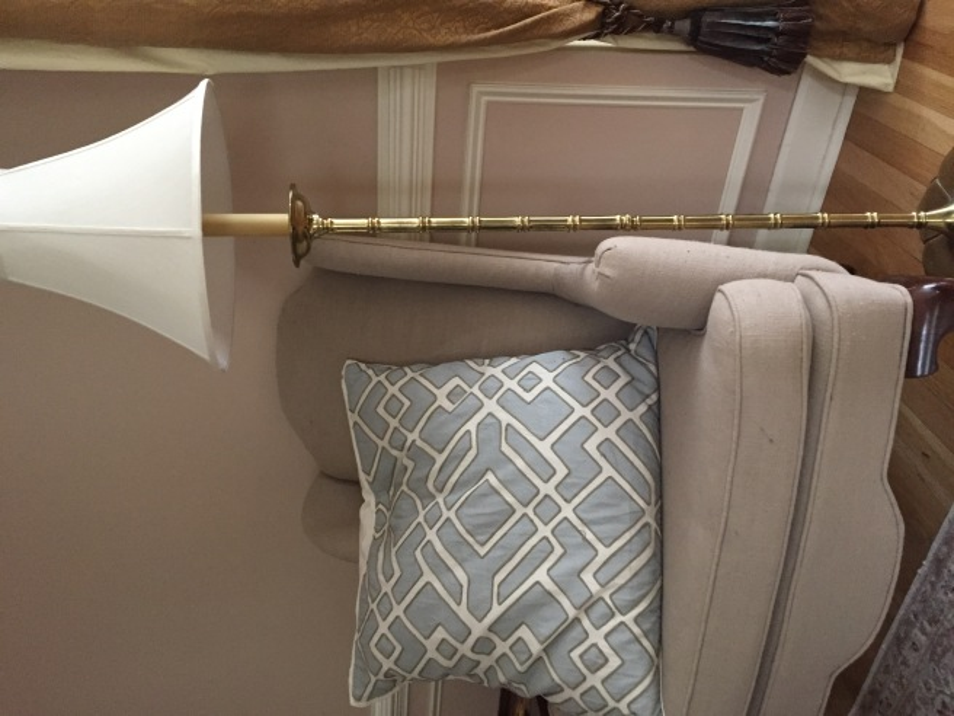 Brass floor lamp