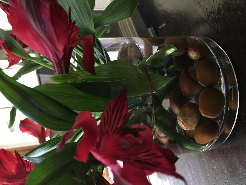 Acorns vase filler
