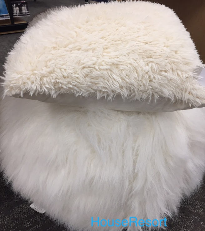Faux fur pillow covers and bean bags