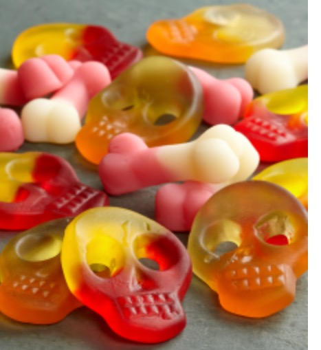 Skull shaped gummy
