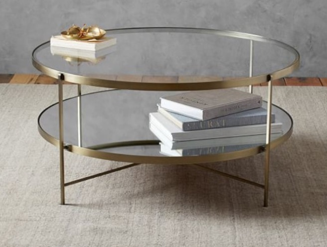 Potterybarn Leona Round coffee table