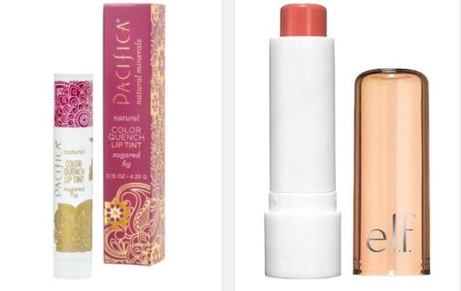 Pacifica Color Lip Tint and e.l.f  Balm