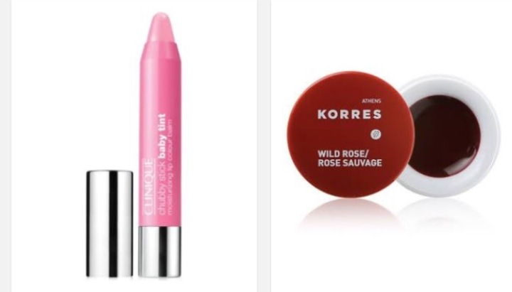 CliniquE and Korres lip balm