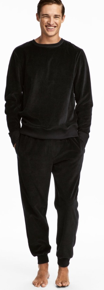H&M Velour Two Piece For Men