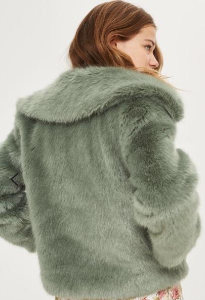 Top Shop Faux Fur Jacket