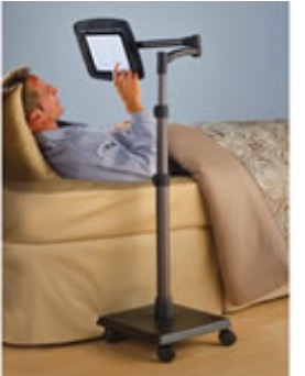 Rolling Bedside Ipad Stand