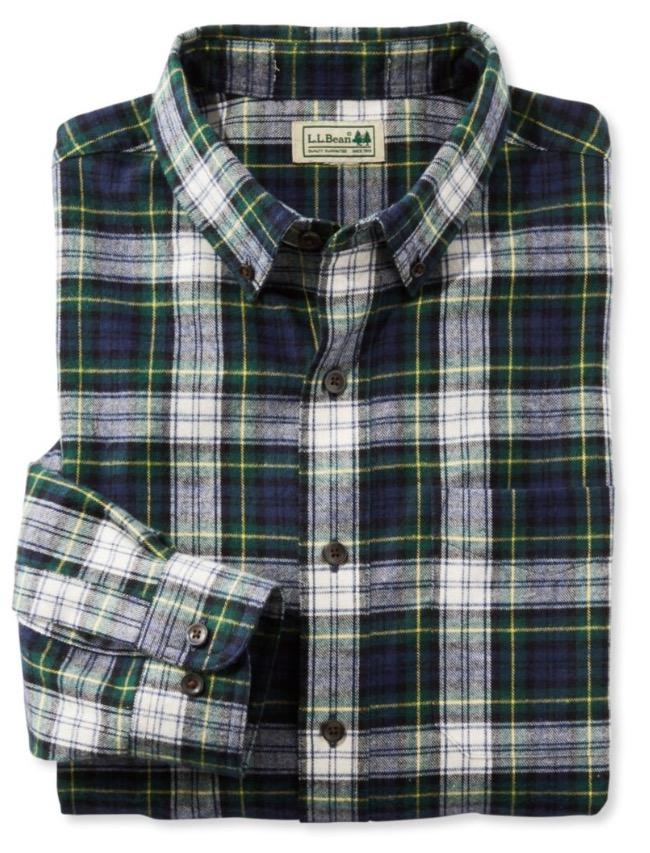 LLBean flannel shirt