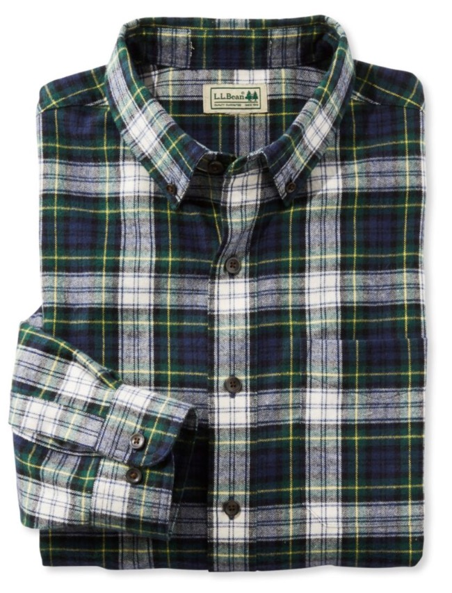 LLBean flannel shirt