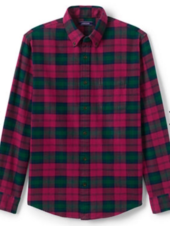 Lands End flannel shirt