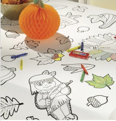 Party City, Paper Coloring Tablecloth