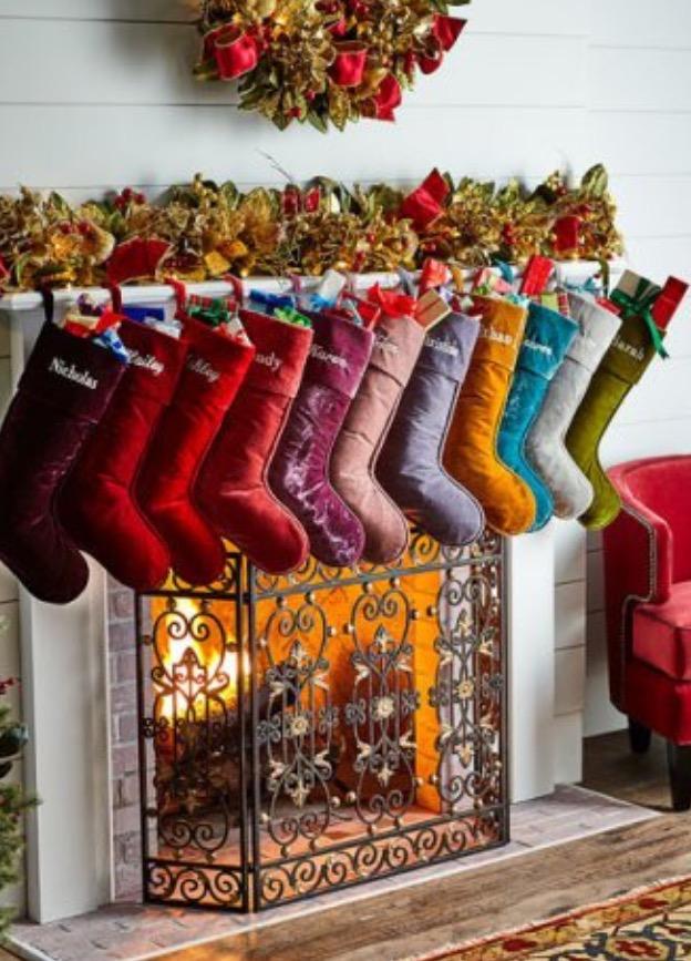 Velvet Christmas Stockings