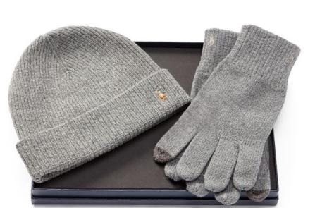 Ralph Lauren men's wool hat & glove set