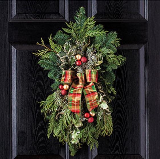 Fresh Christmas Door Swag