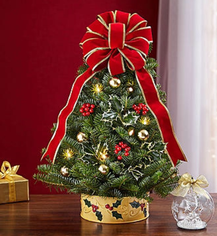 Holiday Tree with Lights and Lenox Ornament