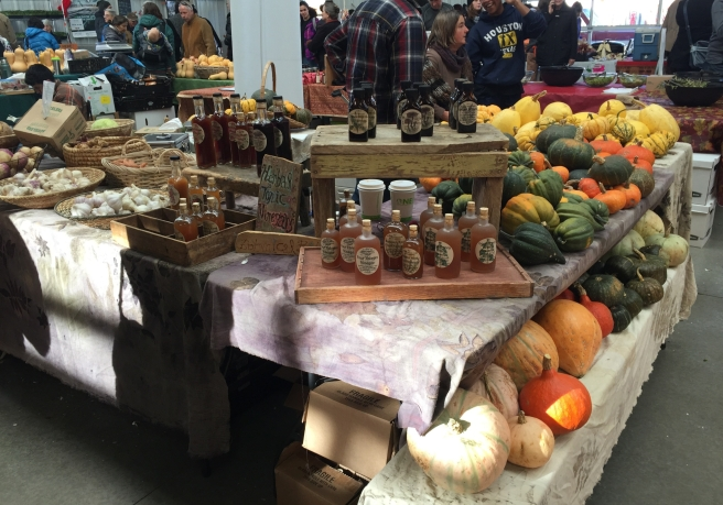 Squash table at the farmers matket