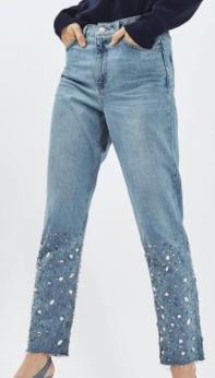 Top shop hem hem jeans