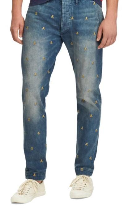 Ralph Lauren men's embellished jeans