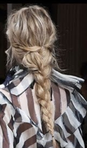 Pony tail with braid