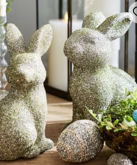 Pottery barn German glitter bunnies