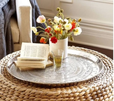 Pottery barn Hammered tray