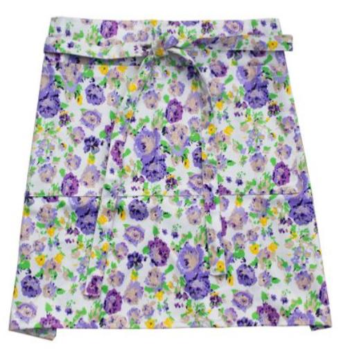 Womanswork, floral apron