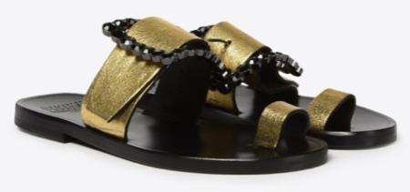 Maison Margiela, Metallic calfskin sandals