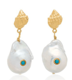 Anni Lu, shell and pearl earings