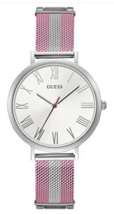 Guess, Pink & silver analog watch