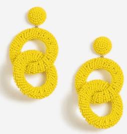 Top shop, seed bead loop earings