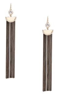 Guess, Blair multi fringe earrings